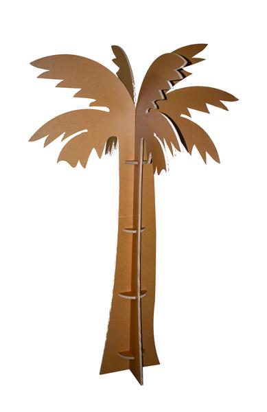 abiplex palmera de carton ecologico y economico